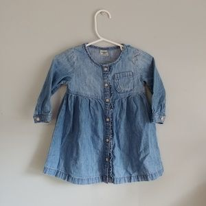 Osh Kosh long sleeve chambray shirt dress